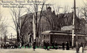 1914 Chillicothe Ohio PC: Scioto Valley Traction Terminal, Car & Passengers