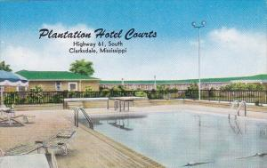 Mississippi Clarksdale Plantation Hotel Courts With Pool