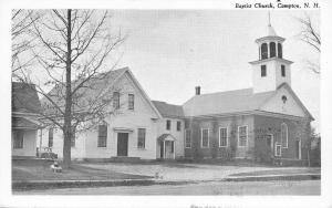 Campton New Hampshire~Baptist Church and Parsonage? 1960 B&W Postcard