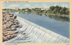 Idaho Idaho Falls The Snake River 1950 Curteich