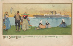 Red Star Line Ocean Liner & Dutch People , 1901-07