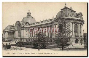Old Postcard Paris (eighth) Petit Palais Avenue Alexandre III