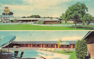 TWIN FALLS, ID Idaho  STRAUGHN'S MOTEL  Pool~50's Car  ROADSIDE  Chrome Postcard