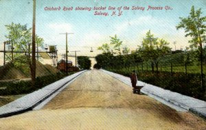 Solvay, New York - Orchard Road showing bucket line of Solvay Process Co - c1908