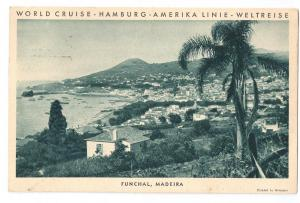 Funchal Madeira Hamburg Amerika 1931 World Cruise Resolute