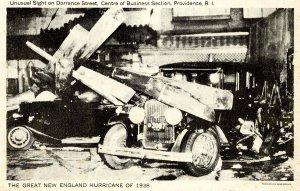 RI - Providence. 1938 Hurricane, Dorrance Street Chaos
