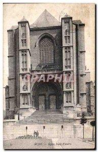 Old Postcard Mons Church St. Wandru