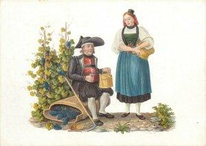 Switzerland swiss early folk costumes ethnic types Schaffhausen