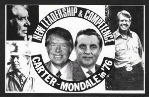 Carter-Mondale Presidential Campaign Unused c1976