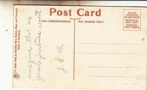 P1864 old postcard clinton ave belmont street view brocton mass