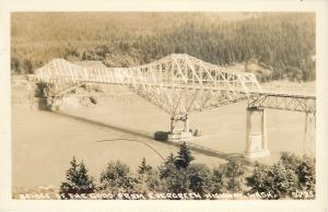 Evergreen Highway Washington~Birdseye Bridge of the Gods~1940s Real Photo~RPPC