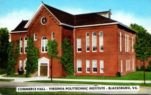 Virginia Blacksburg Commerce Hall Virginia Polytechnic Institute 1957