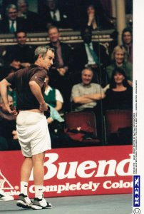 John McEnroe at London Honda Masters Championships Wembley Tennis Press Photo