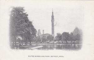 DETROIT, Michigan, 1900-1910´s; Water Works And Park