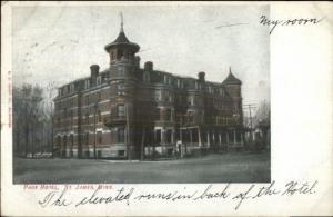 St. James MN Park Hotel c1910 Postcard rpx