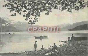 Old Postcard Annecy panoramic lake