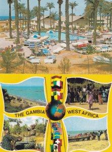 Senegambia Hotel Gambia Swimming Pool 2x Postcard s