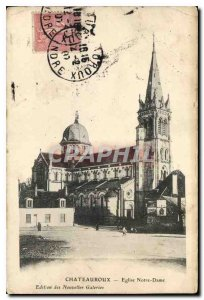 Old Postcard Chateauroux Notre Dame Church