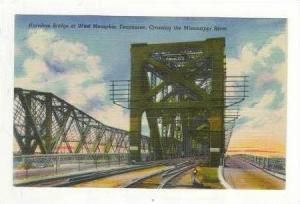 Crossing The Mississippi River, Harahan Bridge at West Memphis, Tennessee, 19...