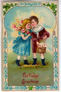 Birthday Greetings - Boy and Girl