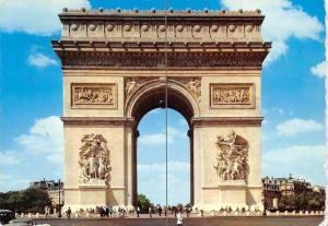 France Paris L'arc de triomphe de l'Etoile 1970