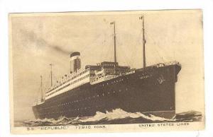 Ocean Liner , United States Lines , S.S. REPUBLIC , 30-40s