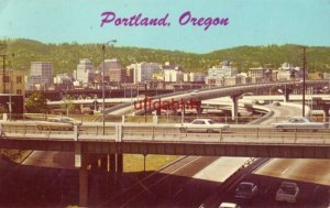 ONE OF THE FREEWAY COMPLEXES OF PORTLAND, OR The City of Roses  1966