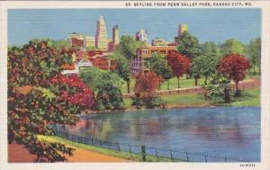 Missouri Kansas City Skyline From Pennsylvania Valley Park
