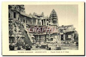 Postcard Ancient Ruins Cambodia Angkor Angkor Vath D West Facade