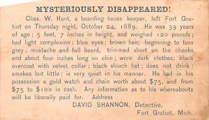 Hardware Advertising Old Vintage Antique Post Card David Shannon Detective Gl...