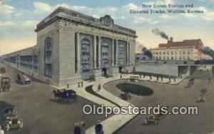 New Union Station, Wichita, KS, Kansas, USA Depot Postcard, Railroad Post Car...