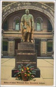IN - Statue of James Whitcomb Riley, Greenfield