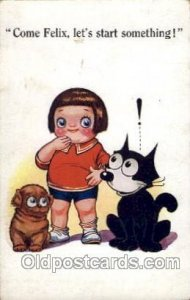 Felix the Cat Series 461 postal used unknown light crease top right edge, lig...