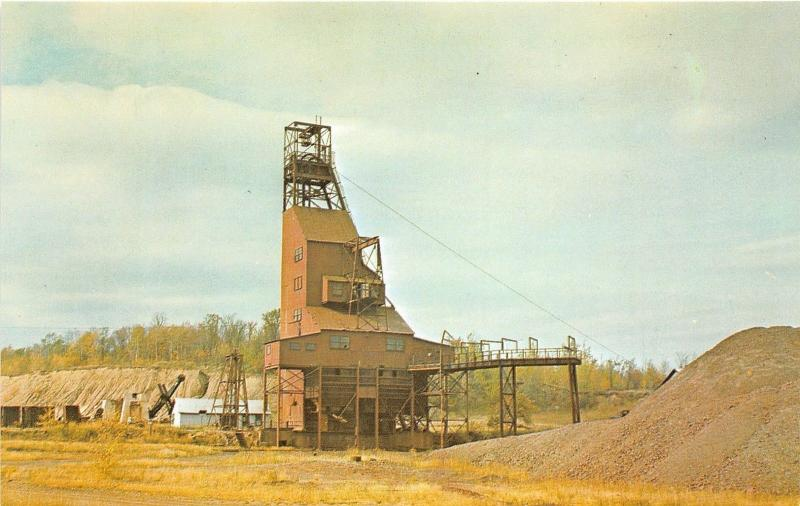 Iron River Michigan~Hiawatha Mine #1~Upper Peninsula~1950s Postcard