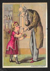 VICTORIAN TRADE CARD Dr I Thompson's Eye Water