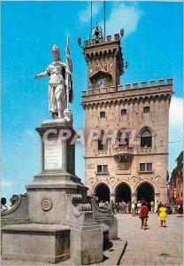 Postcard Modern Republica di S. Marino Regents Palace and Statue of Liberty