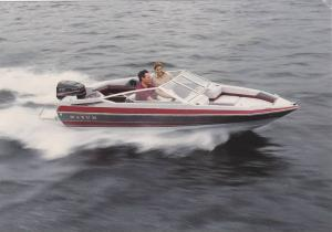 Boat ad, Maxum boat company, Washington, USA, 50-70s ; Model, Maxum 1600/XR