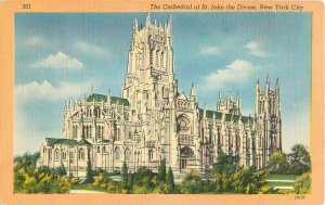 Postcard The Cathedral Of St. John The Devine, New York City