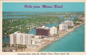 Florida Miami Beach Luxurious Hotels Along Atlantic Ocean 1967