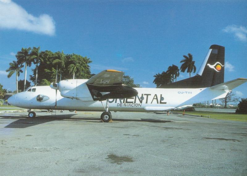ORIENTAL DE AVIACION, AN-26, unused Postcard