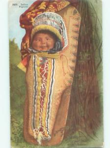 Pre-Linen NATIVE INDIAN PAPOOSE BABY AC1522