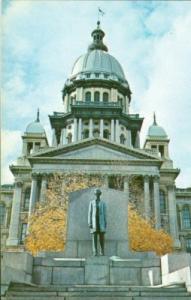 Illinois State Capitol & Abraham Lincoln Statue, Springfi...