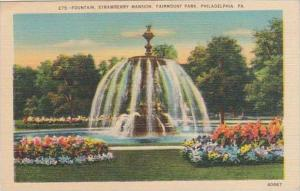 Pennsylvania Philadelphia Fountain Stawberry Mansion Fairmount Park