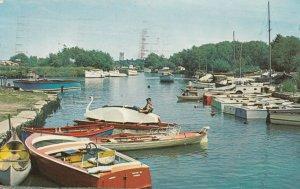 TUCKTON, England, UK; 1961; River Stour, looking towards Christchurch, boats