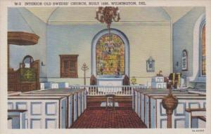 Delaware Wilmington Interior Old Swede's Church Built 1698 Curteich
