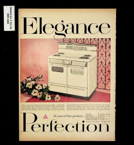 1953 Elegance Perfection Stove and Oven Vintage Print Ad 015743