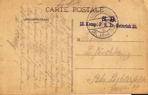 Germany 1915 Post Card w/ Two Military Handstamp Cancels