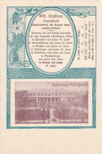 Darmstadt , Germany , 1890s : Jadschloss Wolfsgarden ; Lottery Postcard