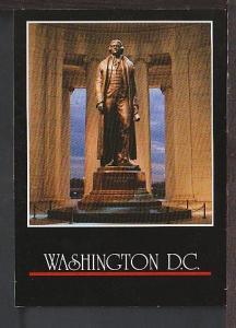 Jefferson Statue Washington DC Postcard BIN