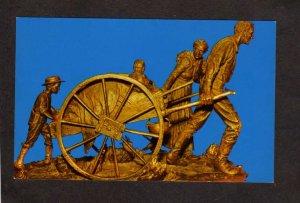 UT Handcart Pioneer Monument Temple Square Salt Lake City Utah Postcard